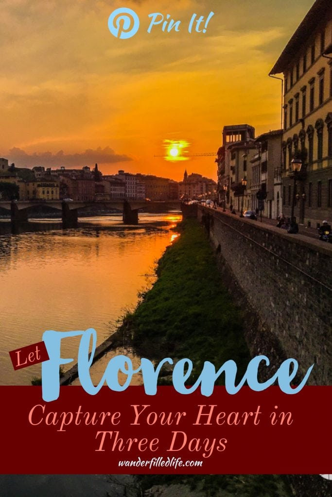 Florence is one of our favorite places on Earth, not just in Italy. There is just so much culture, art, history, not to mention beautiful scenery and some our favorite cuisine. We have been multiple times and still can't wait to go back.