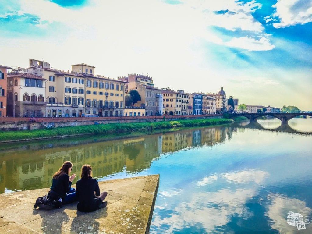 Bonnie's Picnic Spot on the River Arno