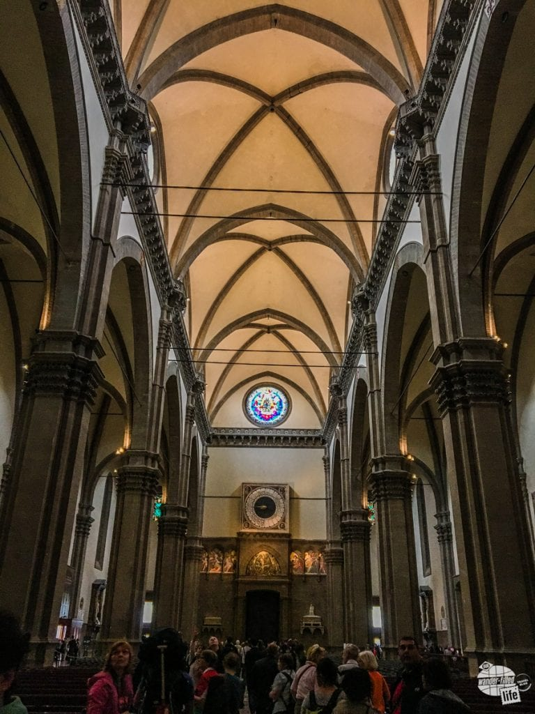 The vaulted ceiling of Duomo in Florence