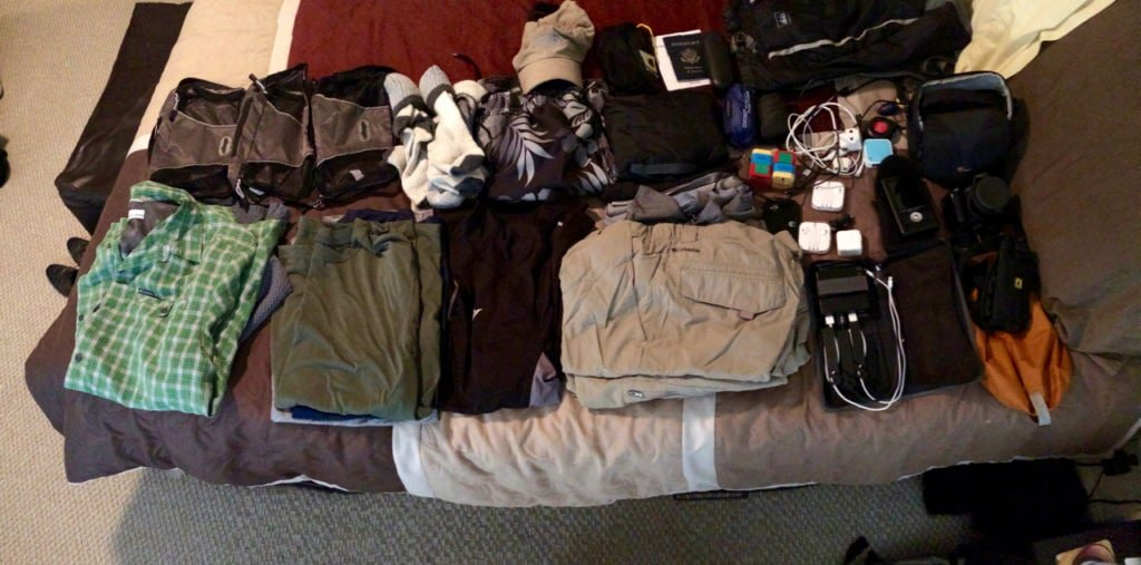 Grant's gear unpacked