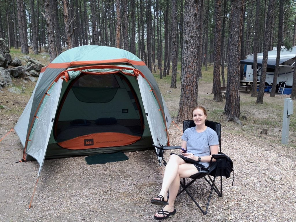 Our big tent is great for car camping.