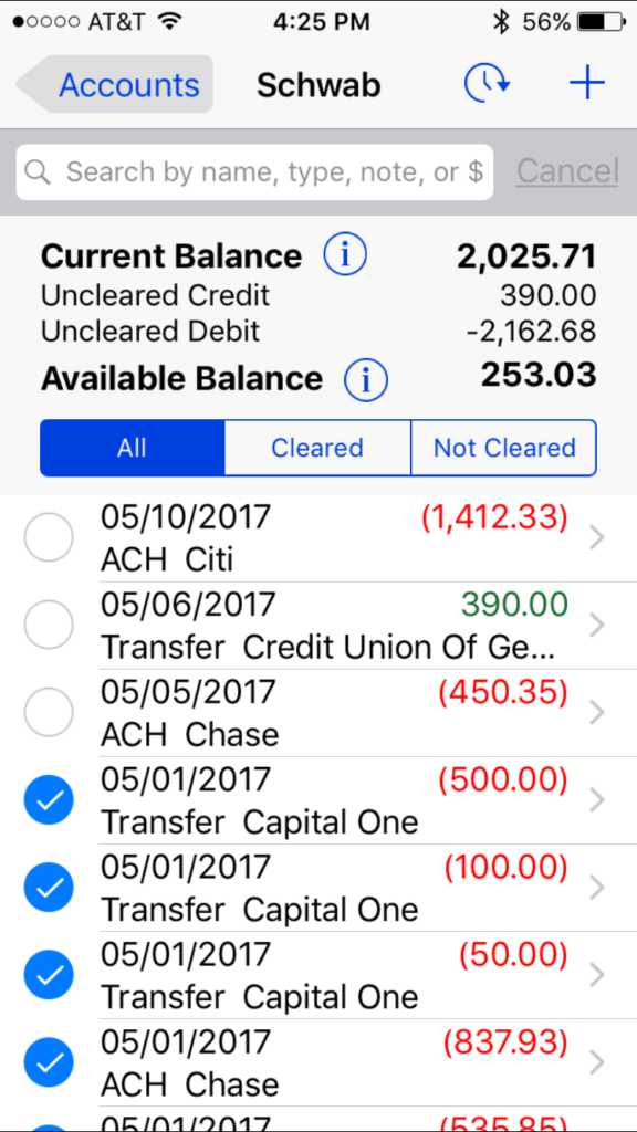 Paying bills requires a good checkbook app