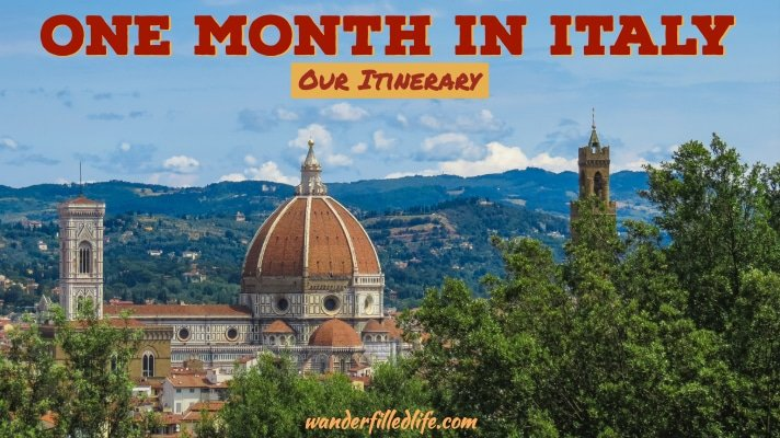 One Month in Italy