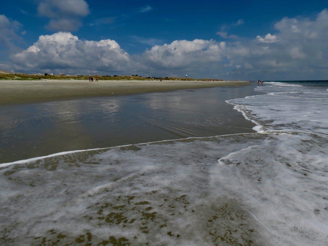 The beach on Tybee Island