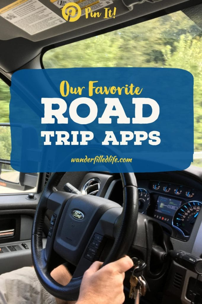 Apps we use on our road trips to make our travels better, including money, finding good food on the road, as well as hotels and campgrounds.