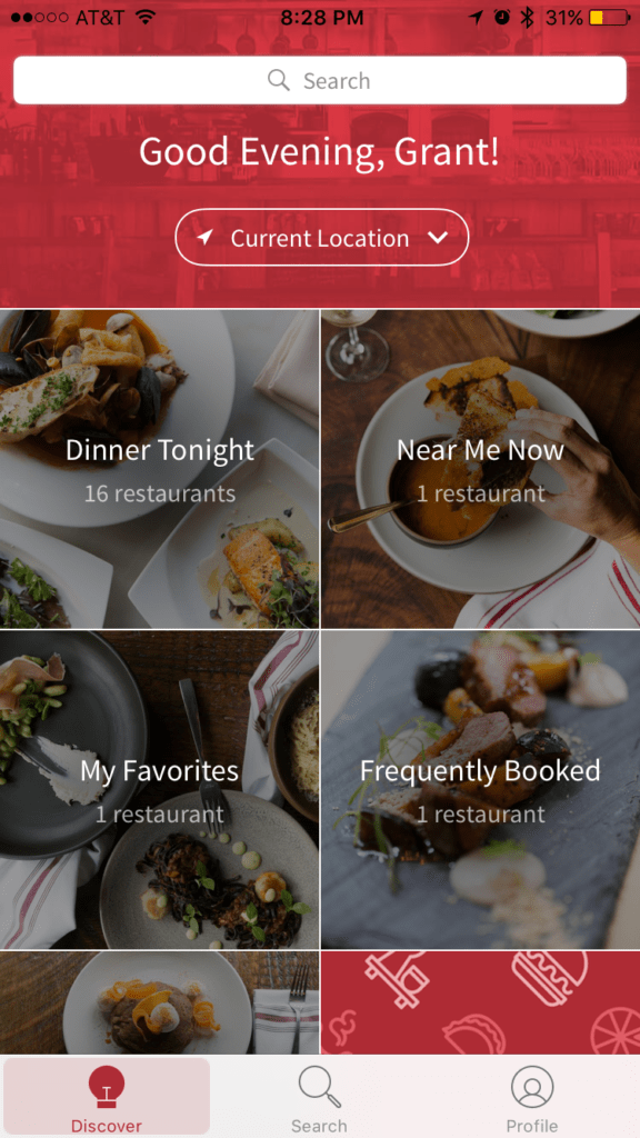 Open Table app