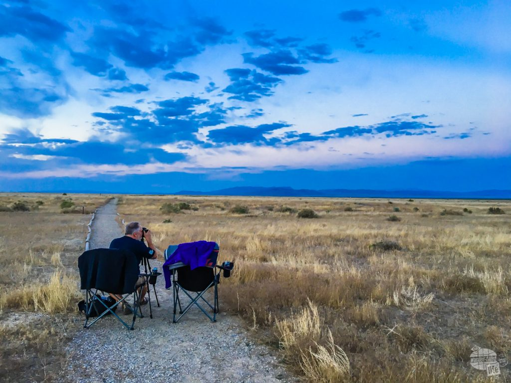 Getting set up with my tripod and cable release to try out night sky photography for the first time just outside Great Basin National Park.