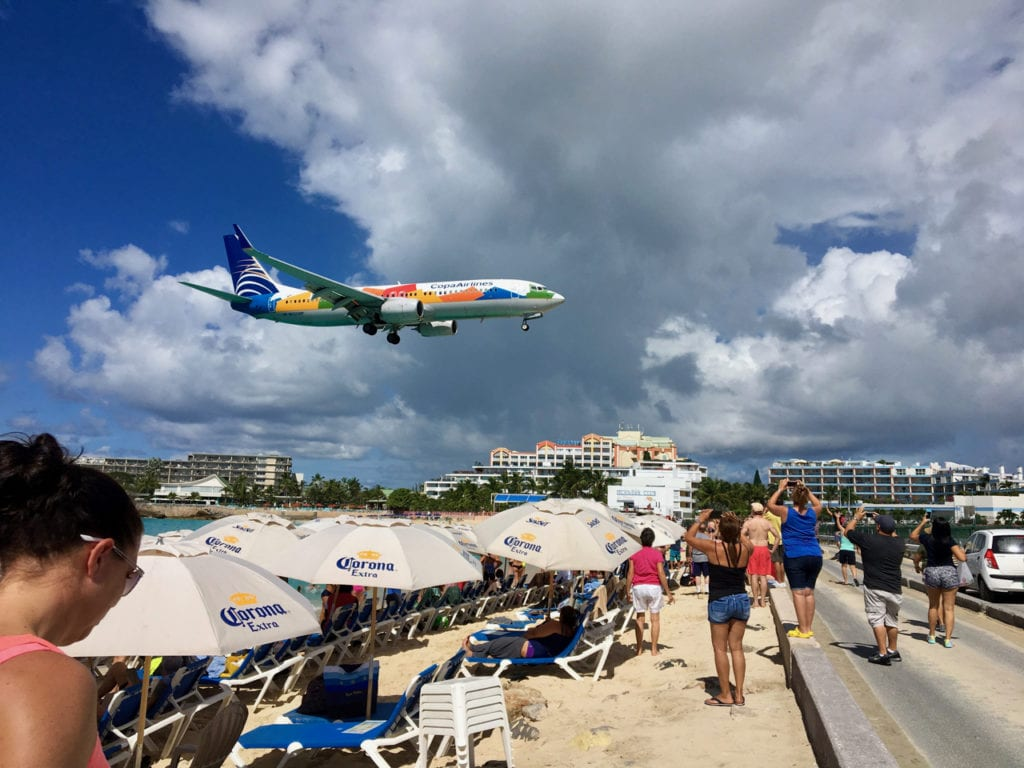 Maho Beach on Saint Martin is famous for being located right next to the airport, making for some very low-flying planes right overhead.