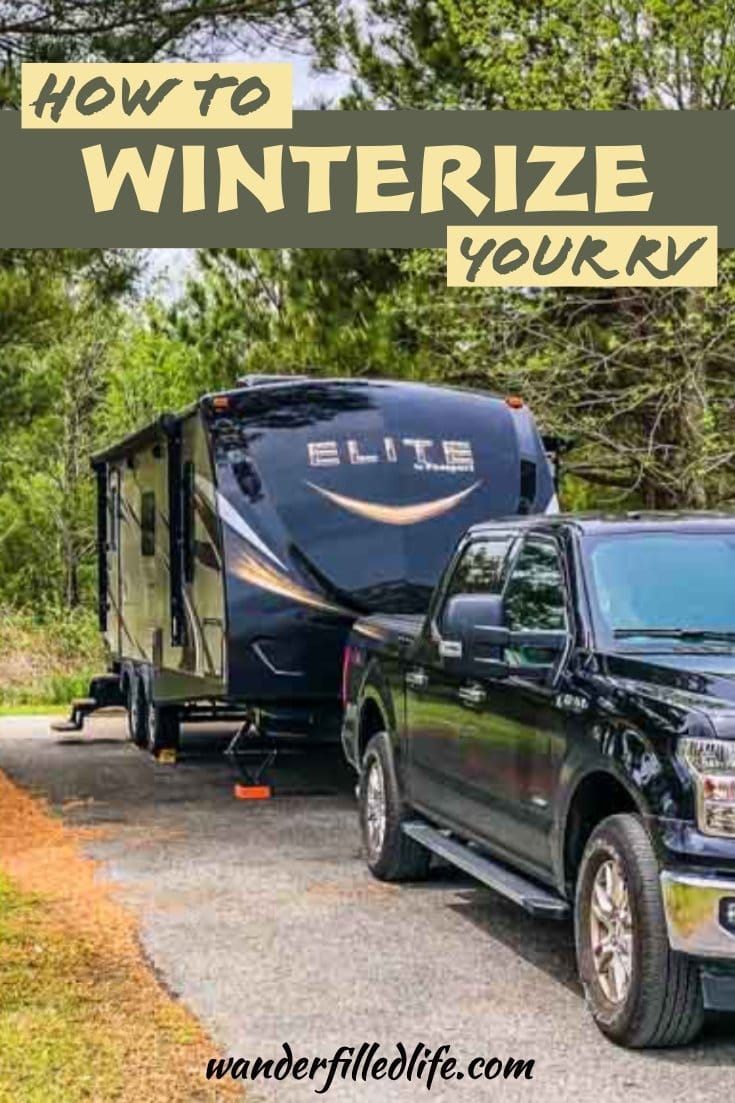 Winterizing a camper is quick and easy to do on your own with a few tools you will want to have on hand anyway and costs less than a trip to the shop.