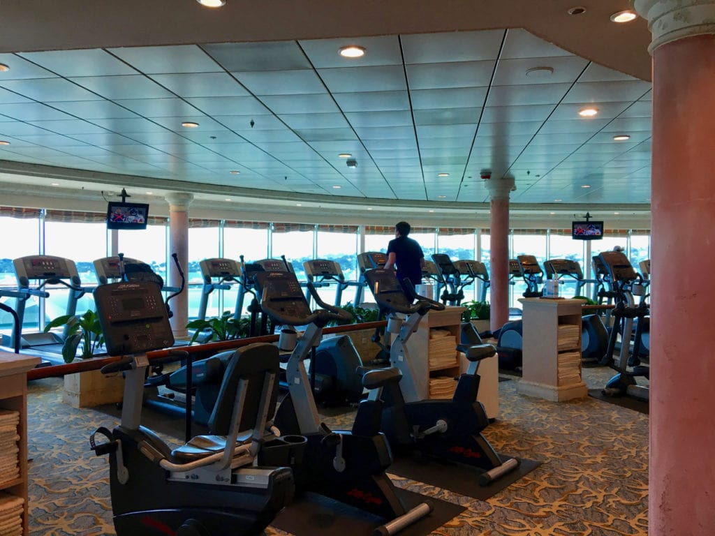 There are plenty of ways to enjoy the onboard gym.
