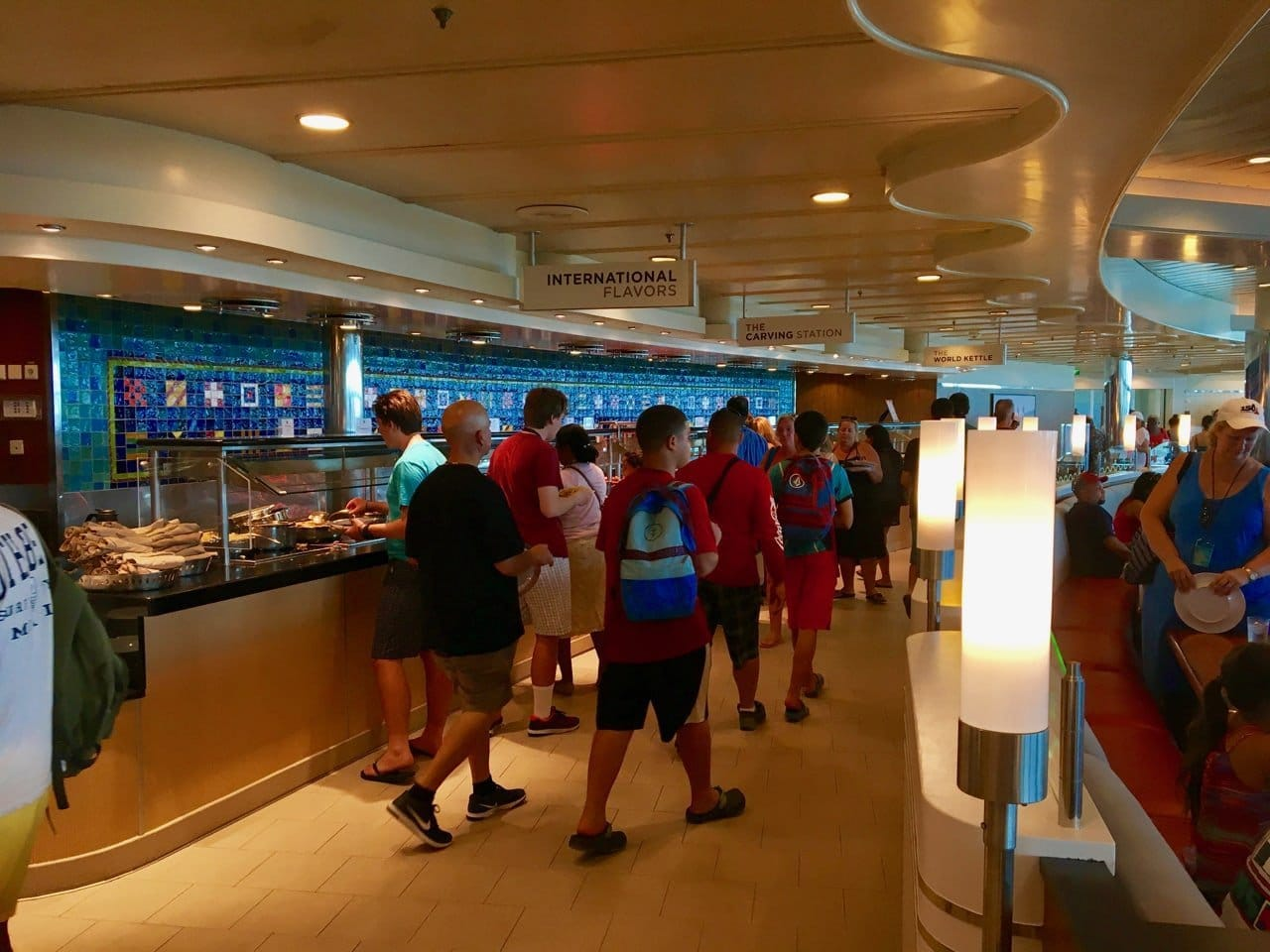 The Windjammer buffet on the Adventure of the Seas