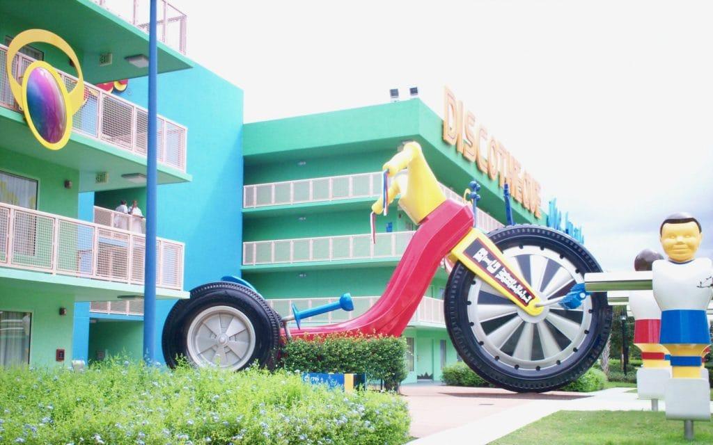 A really big Big Wheel at the Pop Century Resort.