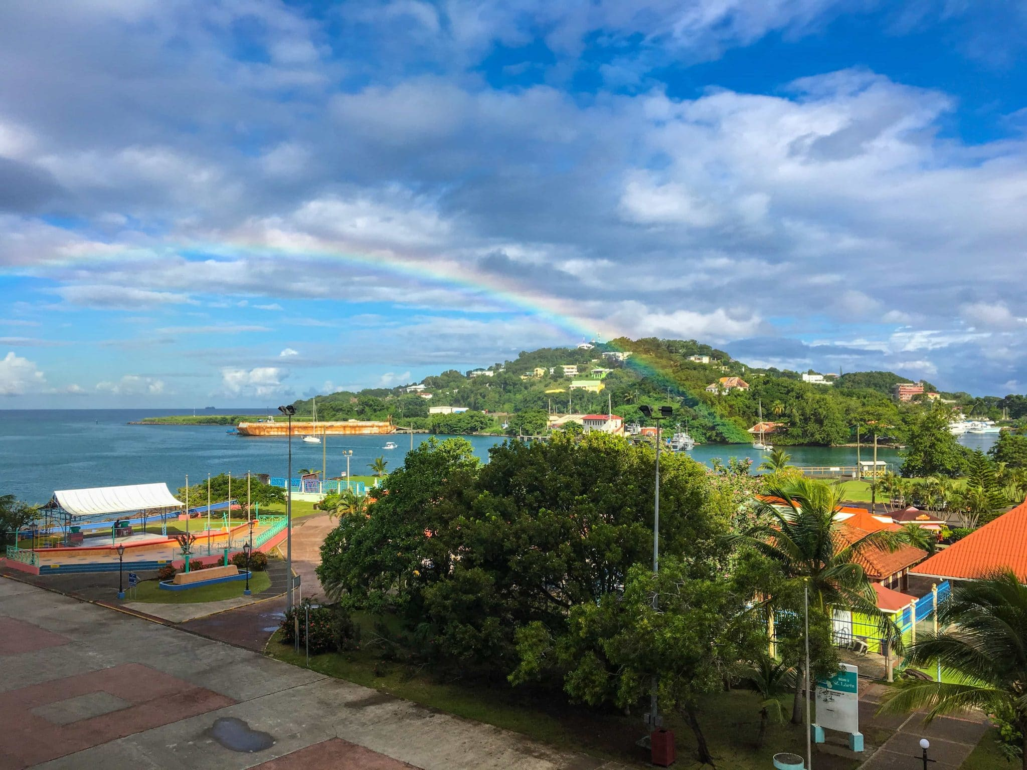 A rainbow in Castries