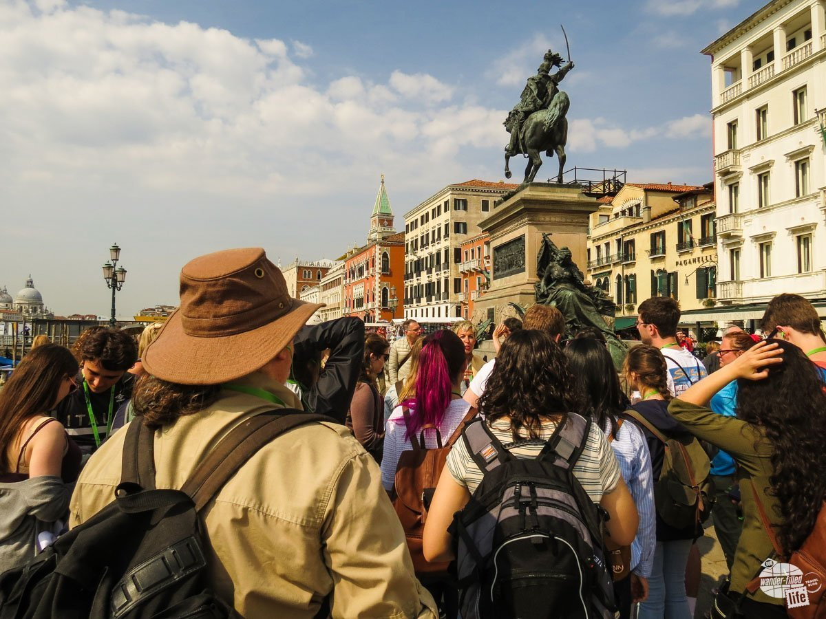 Taking a walking tour was a very different experience for us. On the one hand, we learned a lot we didn't know. That said, a group of nearly 40 walking through the streets and alleys of Venice was tough.