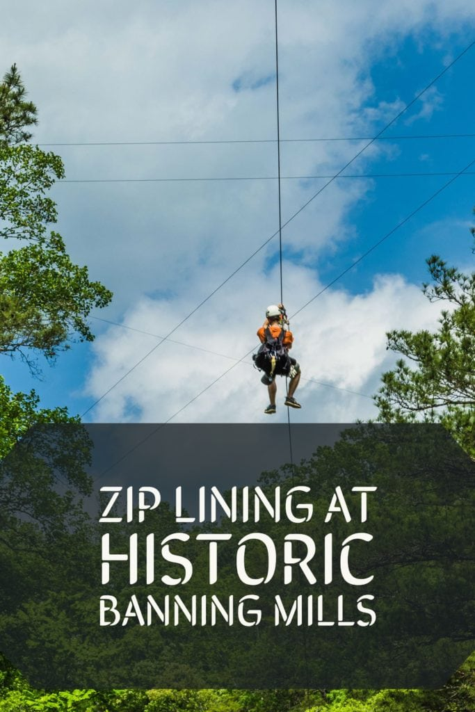Historic Banning Mills, located just west of metro Atlanta, offers amazing zip lines, lodges and cabins, RV and tent camping along with outstanding food.