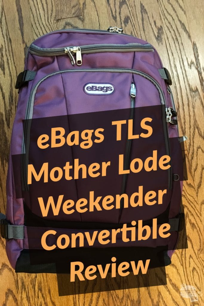 Traveling overseas on a weeklong trip with the eBags TLS Mother Lode Weekender Convertible: a carry-on bag with lots of organizational details.