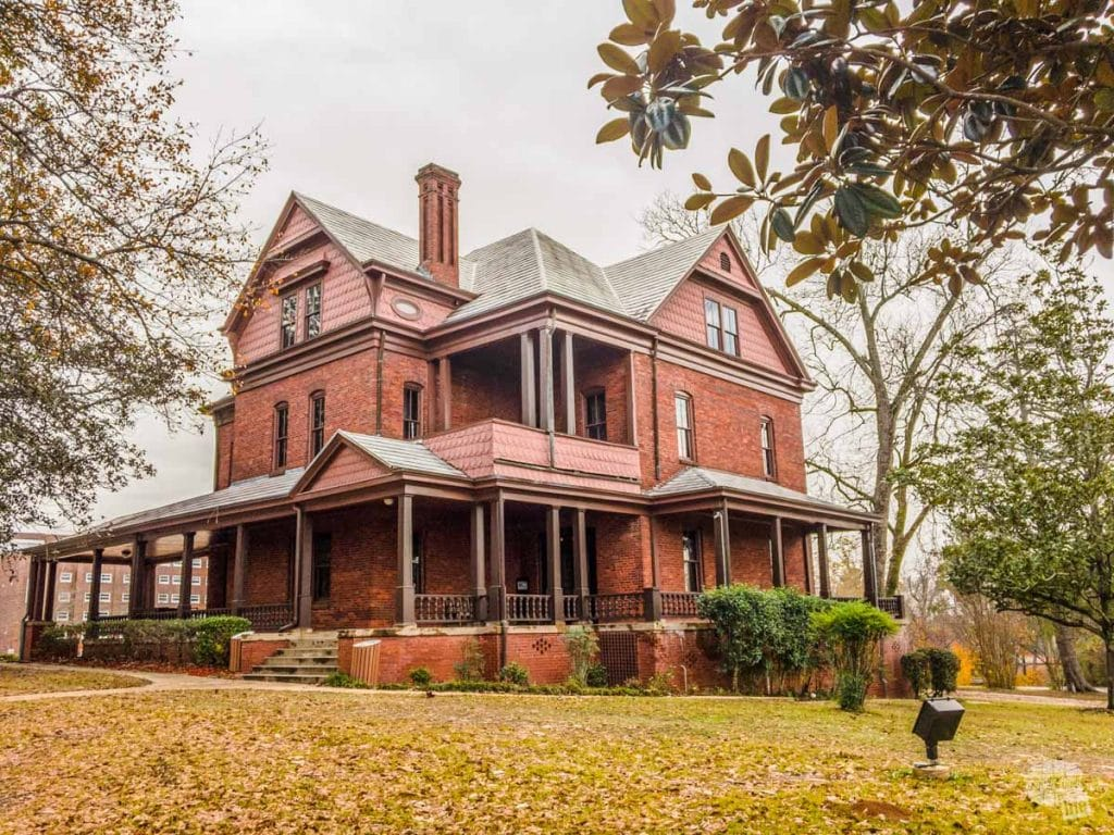 """The Oaks,"" the home of George Washington Carver on the campus of Tuskegee University. We missed seeing it"