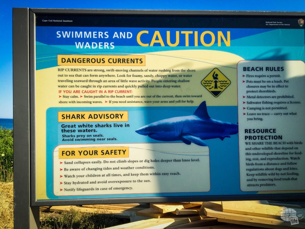 National Park Service Warning Sign