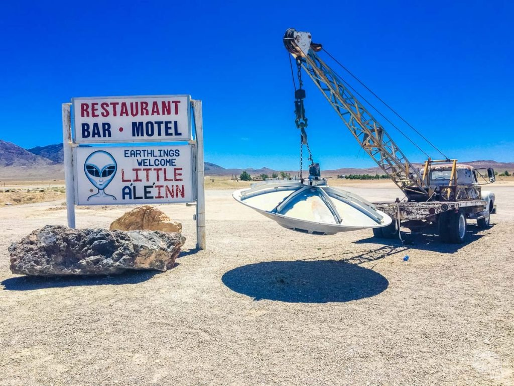 The Little Ale'Inn is a bar and motel in the Rachel, Nevada, smack dab in the middle of the Extraterrestrial Highway.