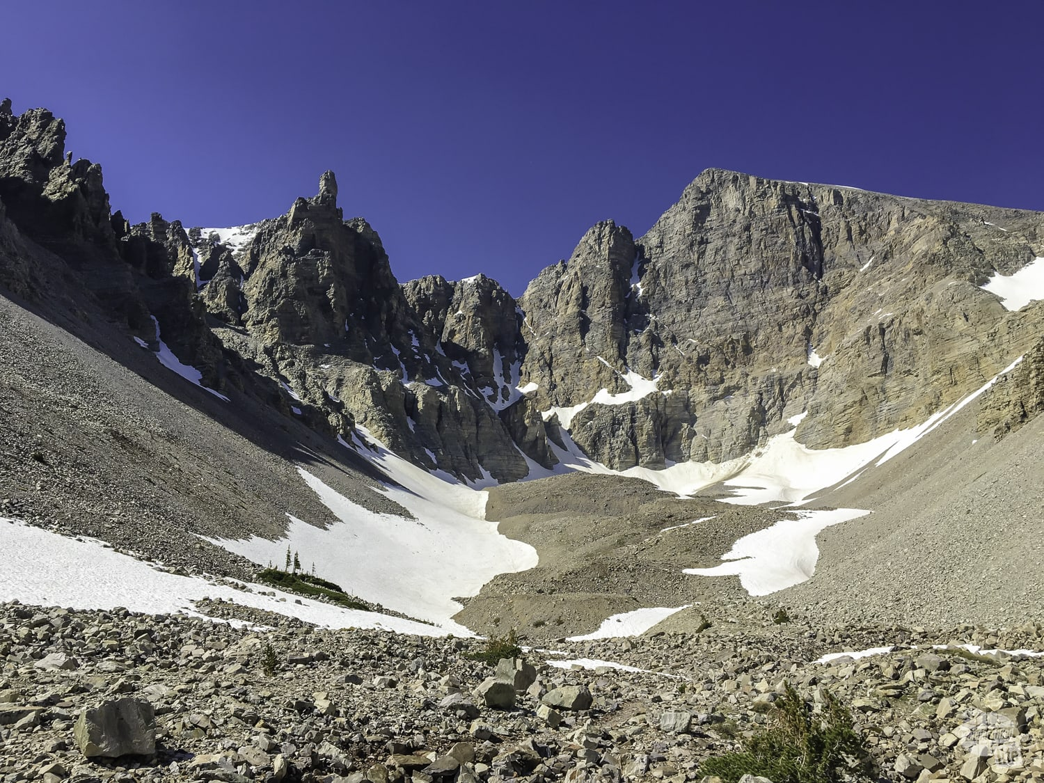 A glacier is one unique feature in Great Basin NP.