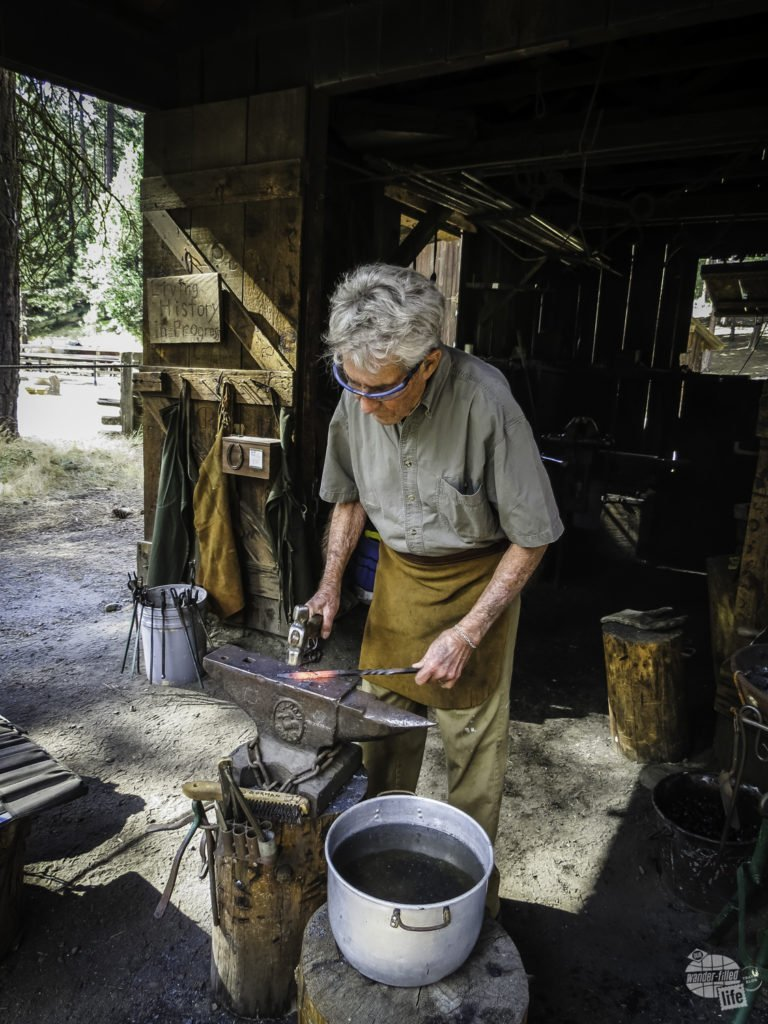 Blacksmithing demonstration in Yosemite National Park