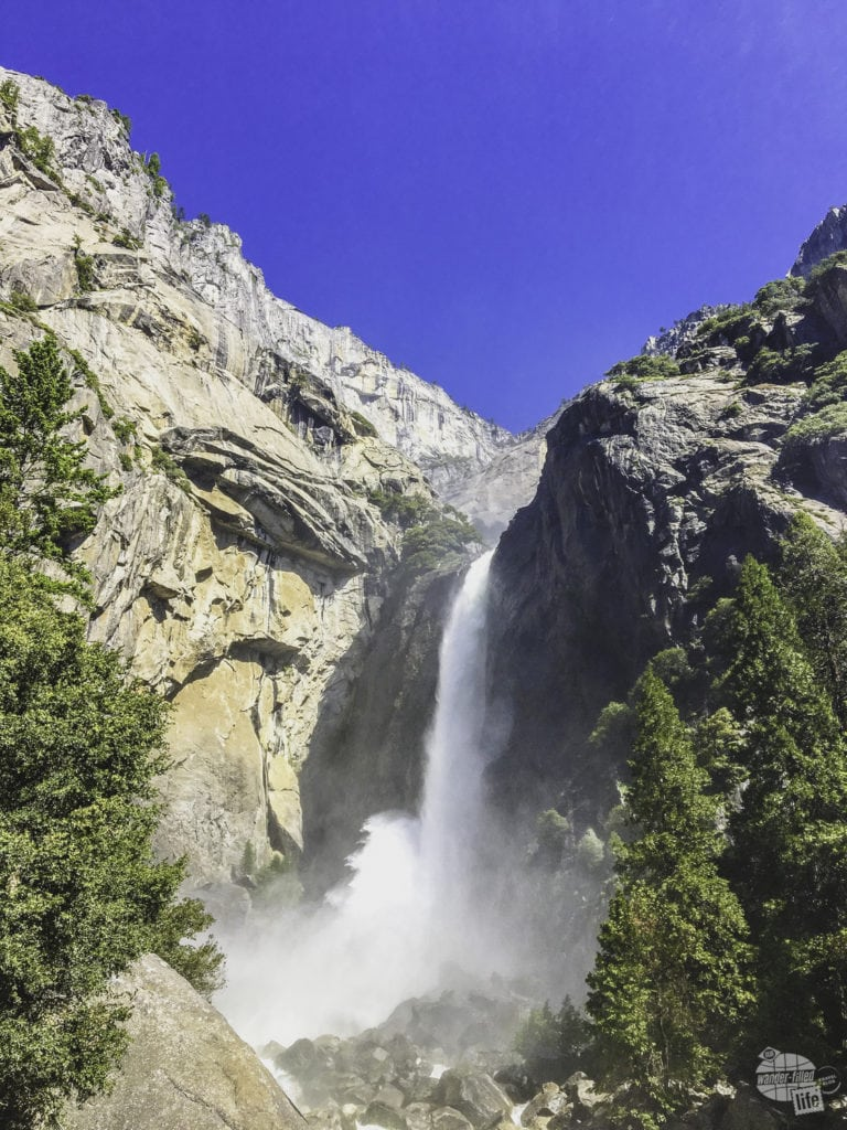 Lower Yosemite Falls was the start of our Yosemite Valley Loop Trail hike.
