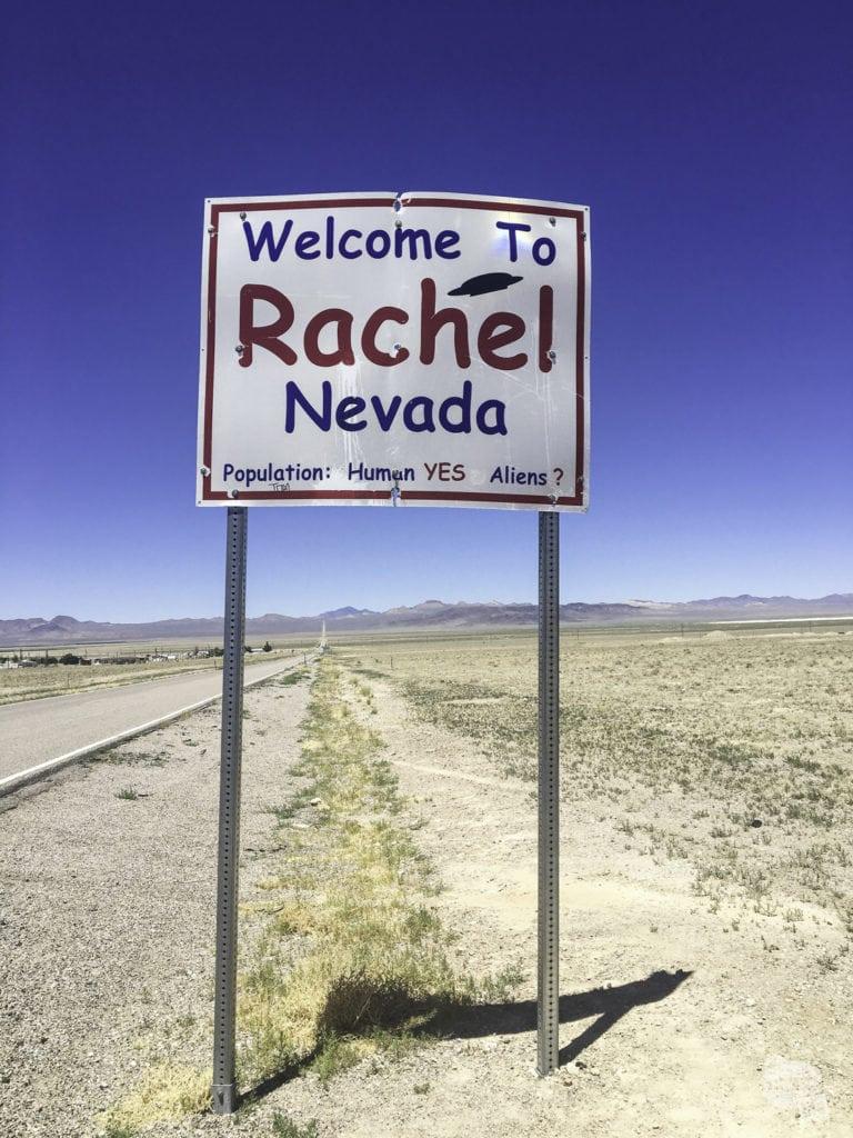 Rachel, Nevada Town Sign