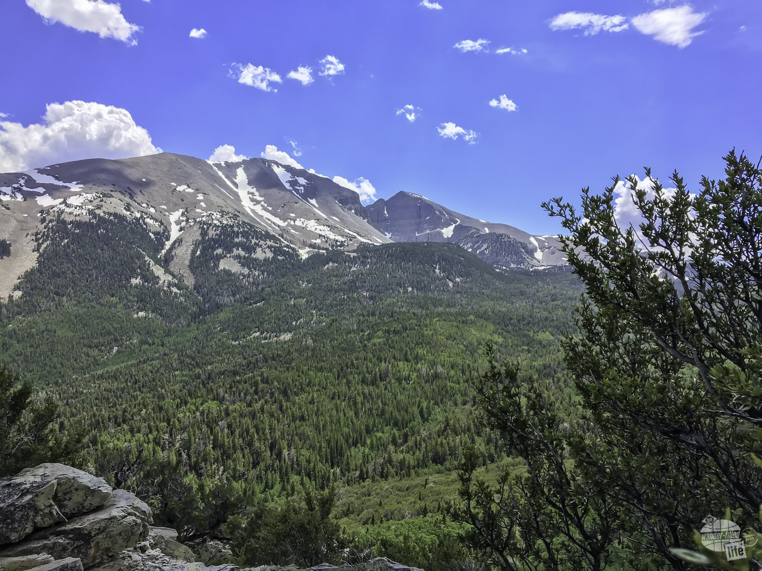 A stop at the Math Overlook in Great Basin NP offers great views of Wheeler Peak.