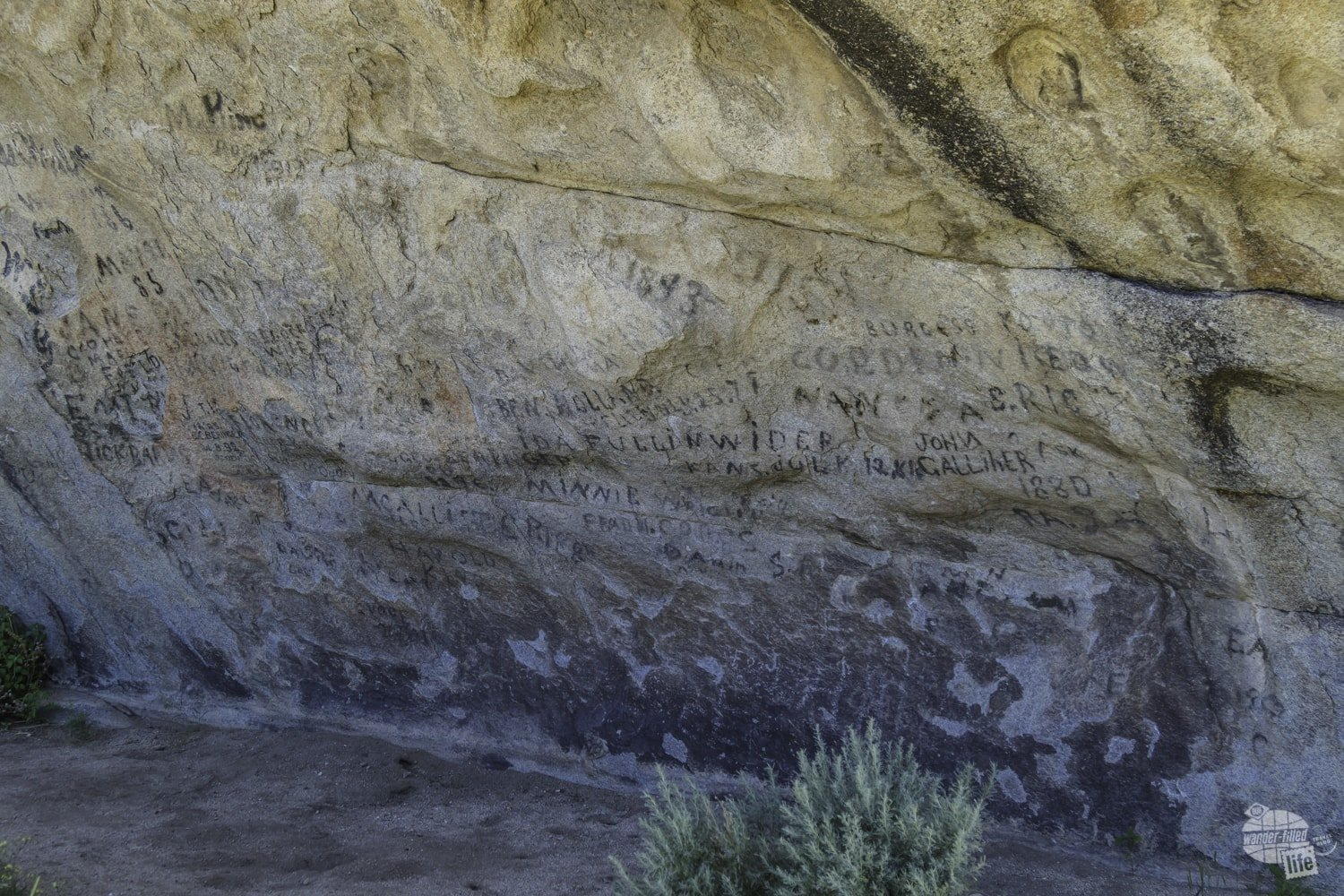 City of Rocks is home to part of the California Trail and Camp Rock served as a place where settlers headed west wrote their names as they passed.