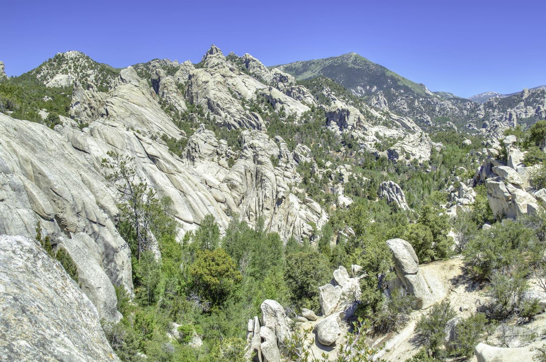 The granite spires of City of Rocks National Reserve