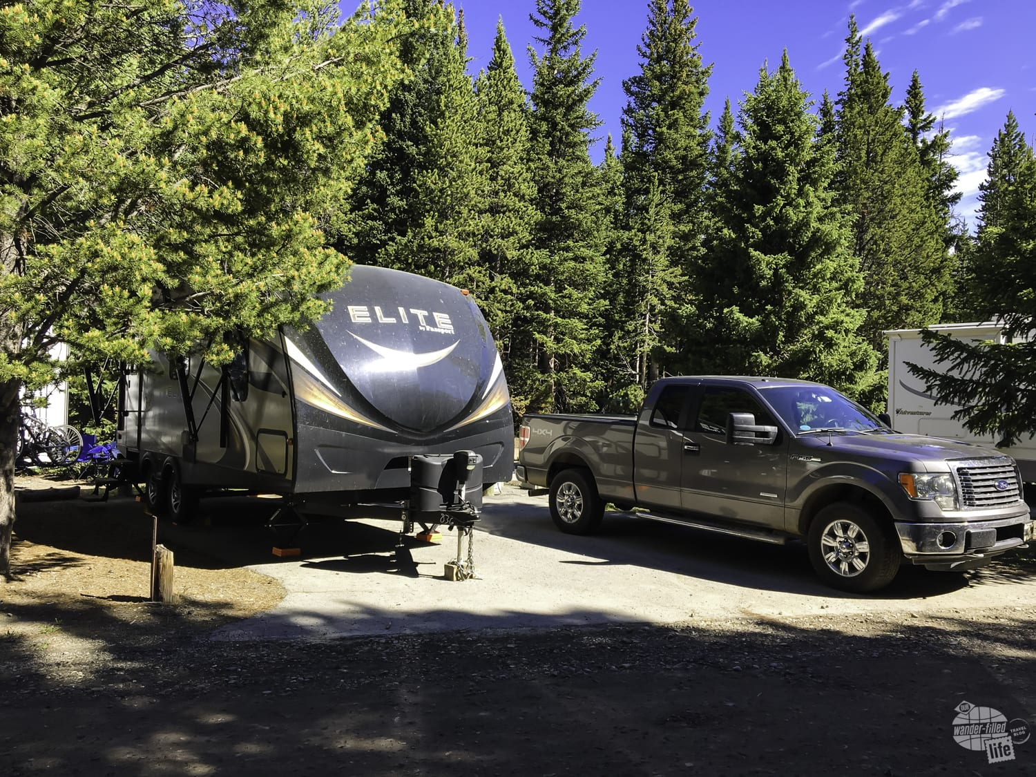 Fishing Bridge is the only campground with hookups at Yellowstone.