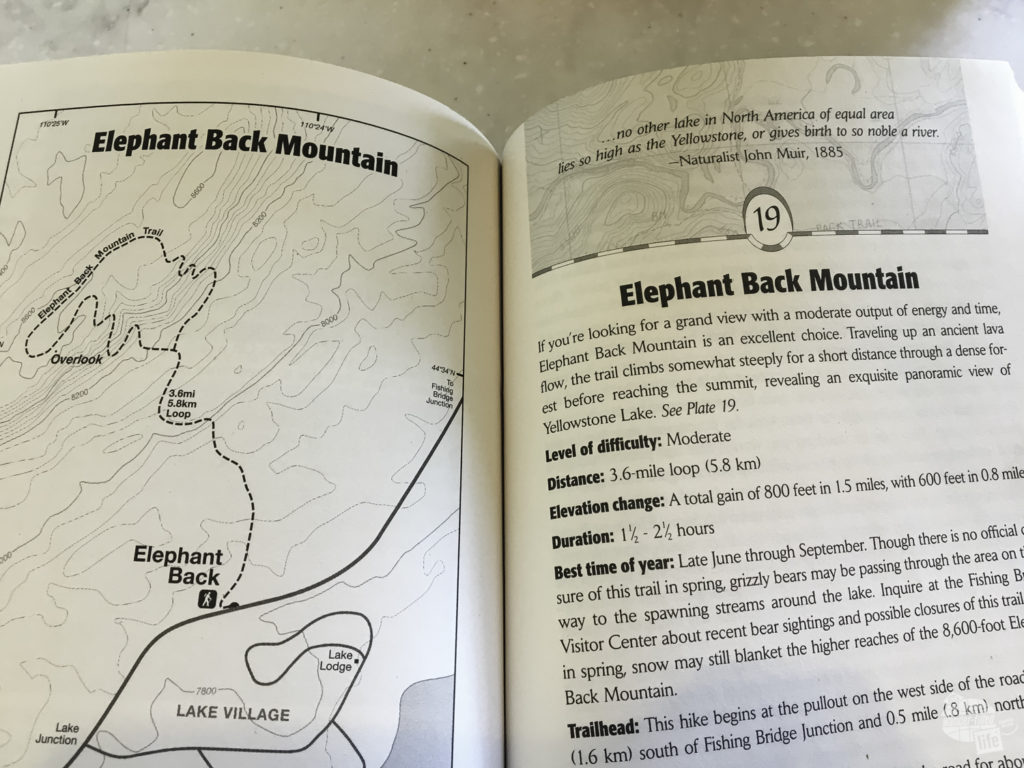 A great book for finding your Yellowstone Hikes