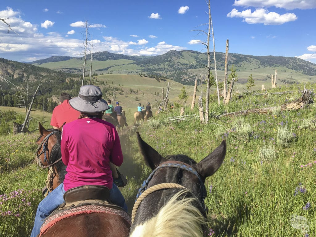 The horseback ride to the cookout provided great views!