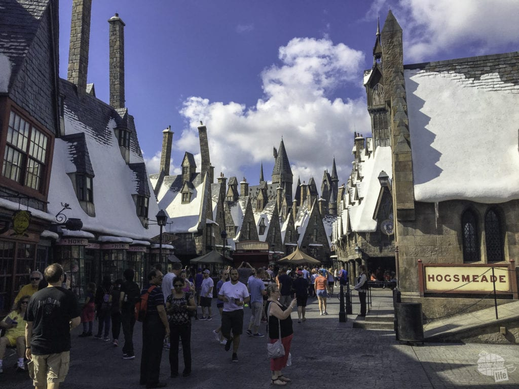 Like Diagon Alley, Hogsmeade is breathtakingly scenic.