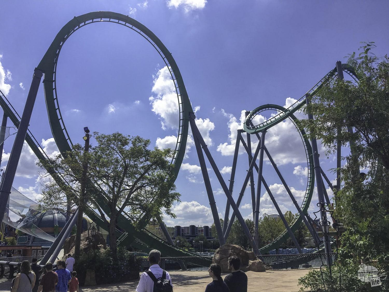 The Incredible Hulk Coaster had plenty of twists and turns!
