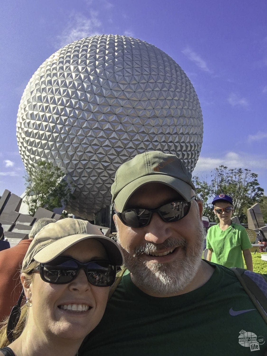 Grant and Bonnie enter Epcot ready to enjoy the Food & Wine Festival!