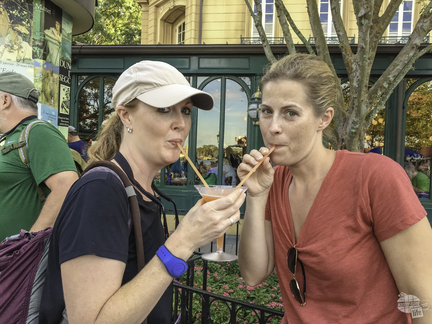 Sharing a drink at the Food & Wine Festival.