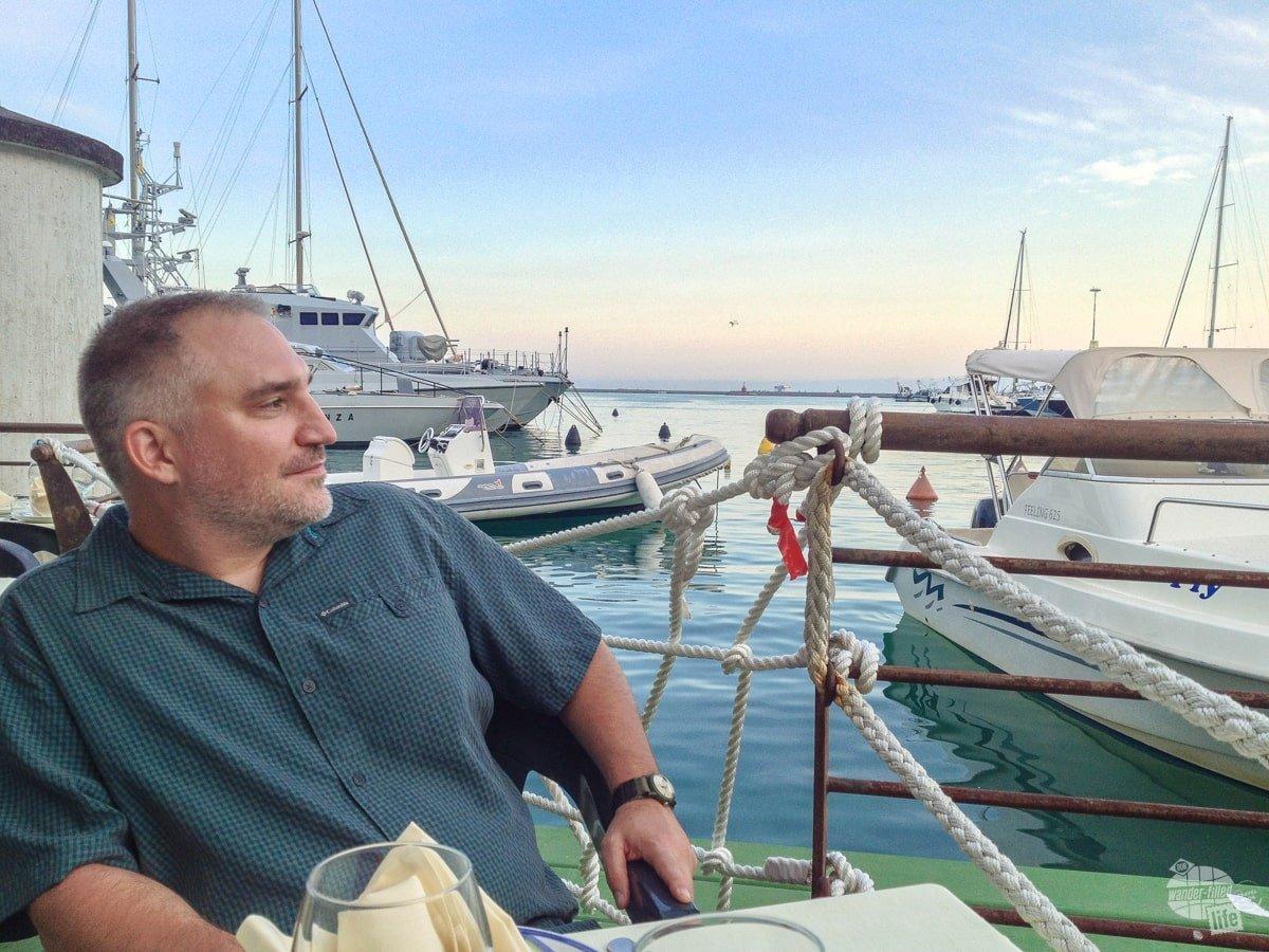 Grant at Dinner in Salerno