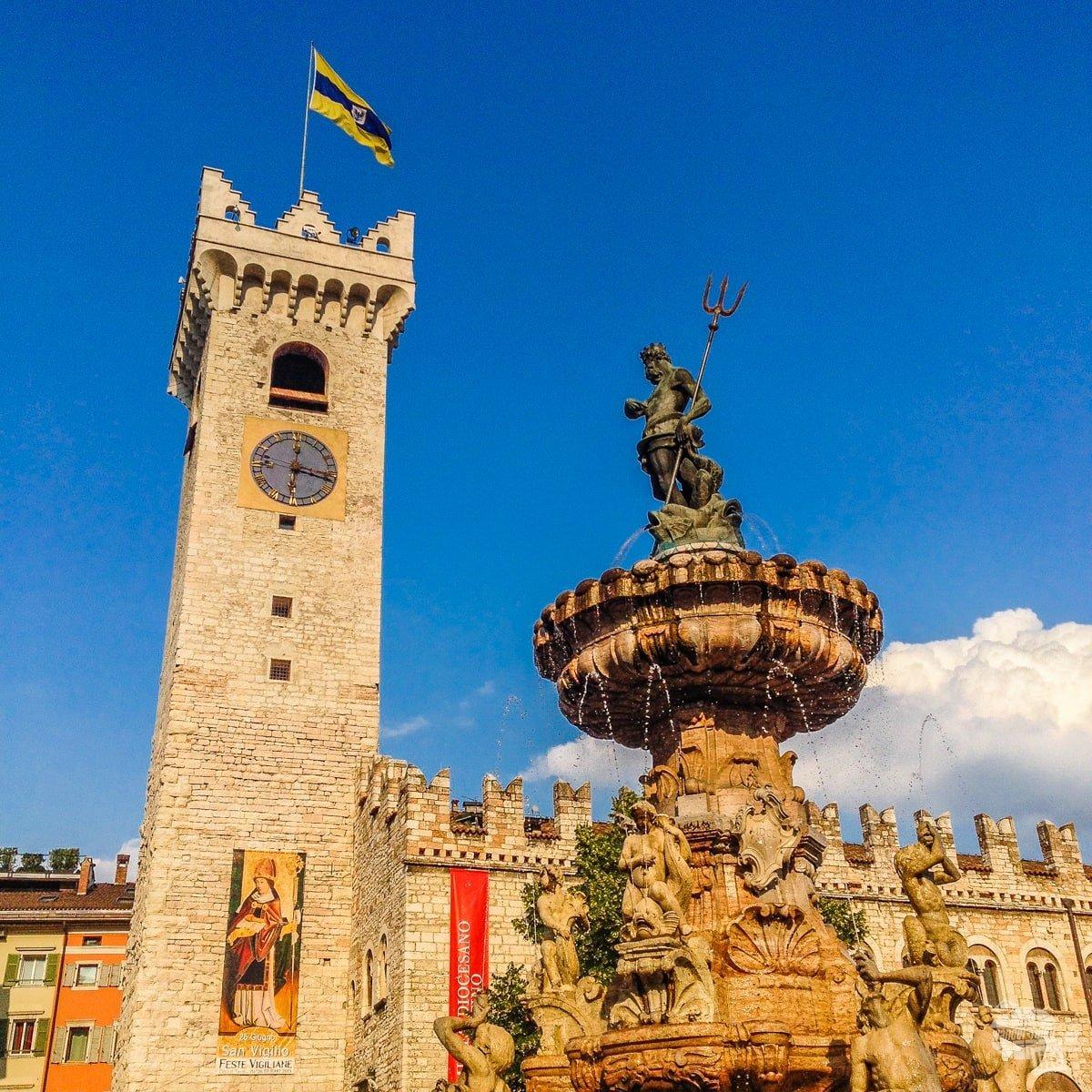The main square of Trento