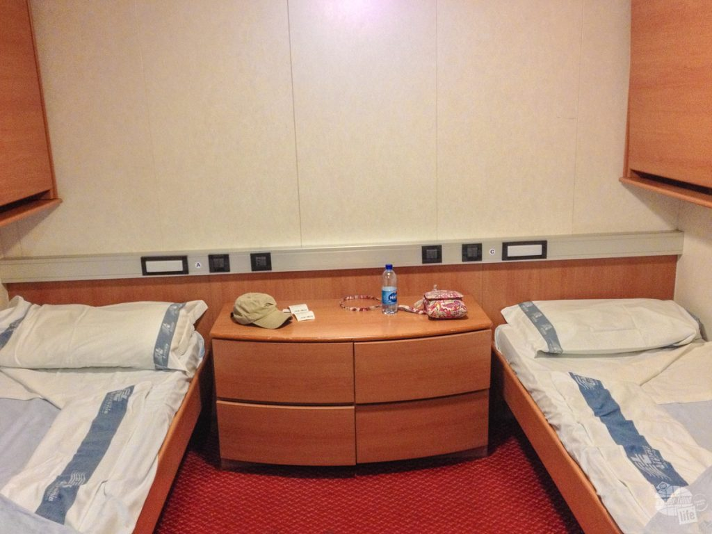 The beds for our ferry from Naples to Palermo.