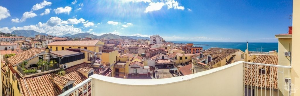 Panorama from Our Room in Salerno