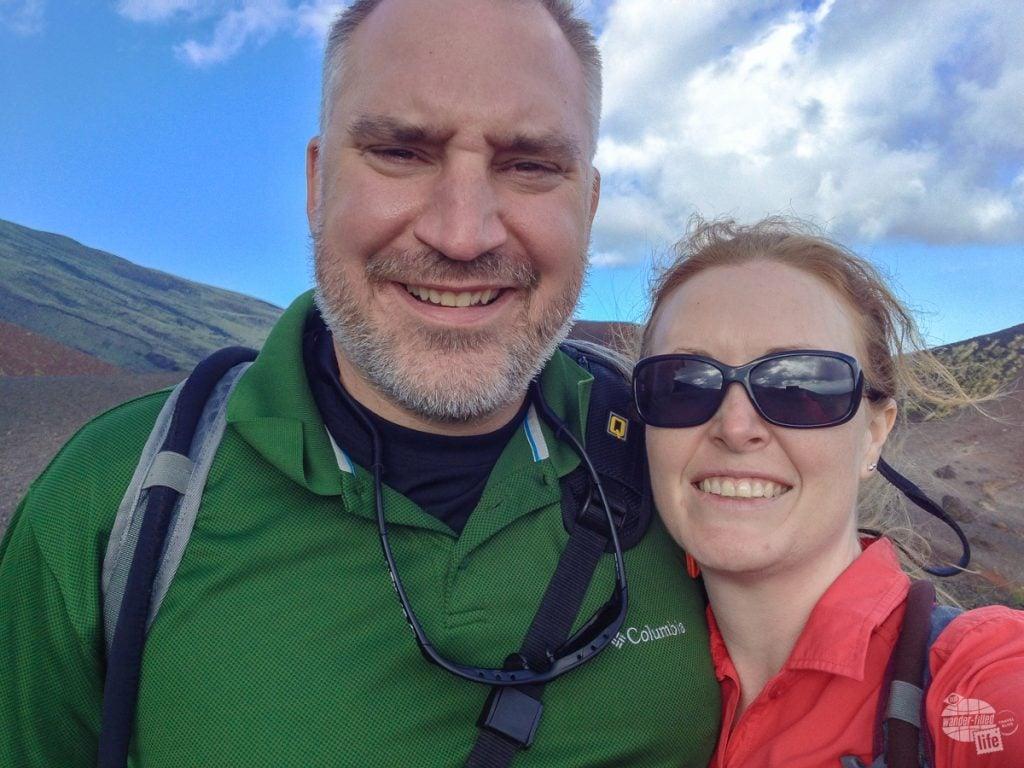 Selfie on Mt. Etna