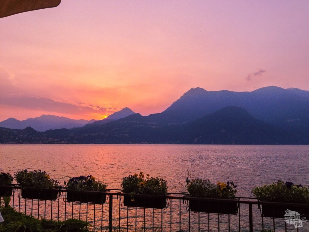 Sunset on Lake Como