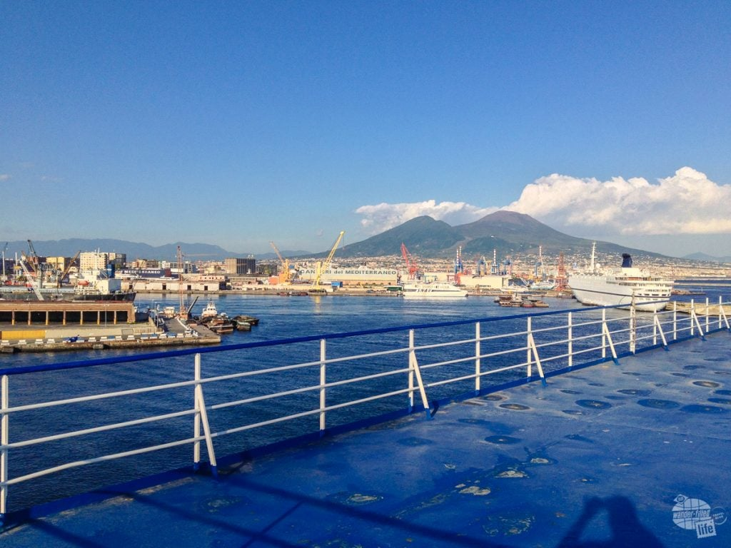 The Port of Naples from deck of the ferry.