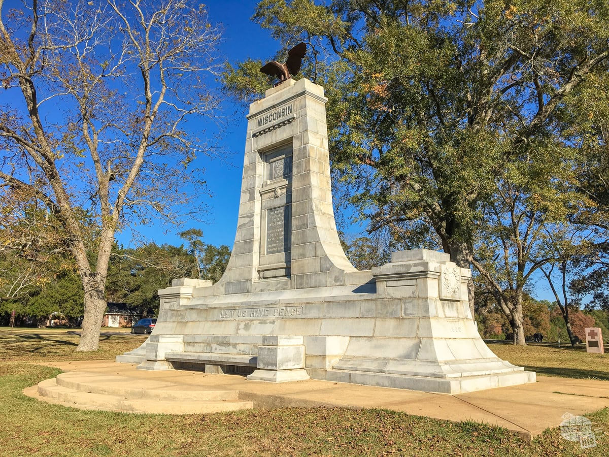 One of the monuments erected by northern states to mark the dead of the prison. The commander of the prison was the only Confederate tried and convicted of war crimes.