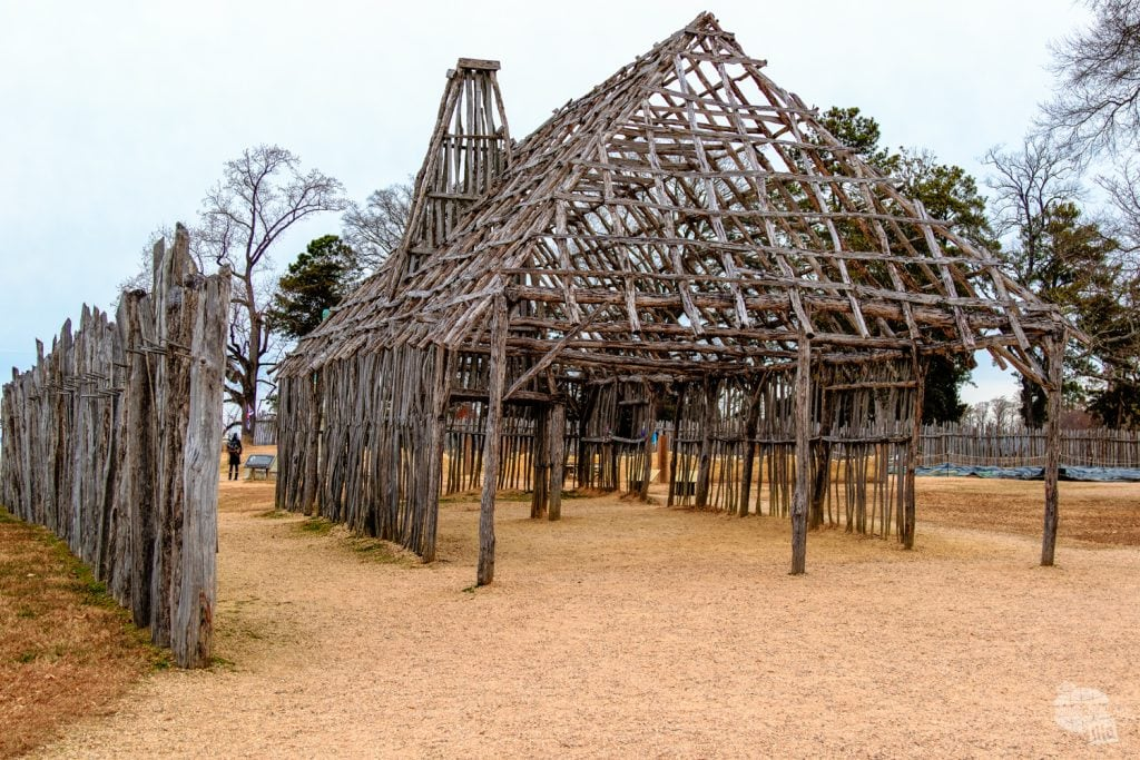 The barracks building at Jamestown