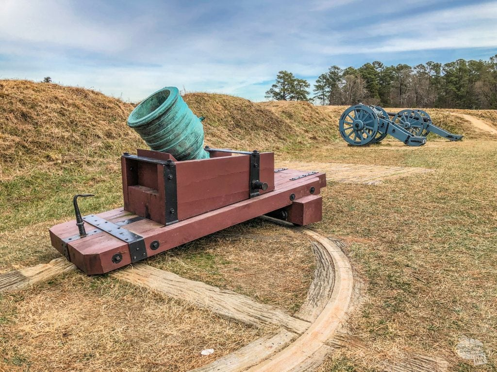 Cannons and Mortar at Yorktown