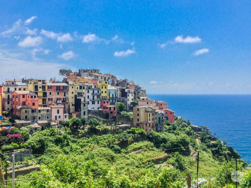 Corniglia, the middle town of the Cinque Terre.