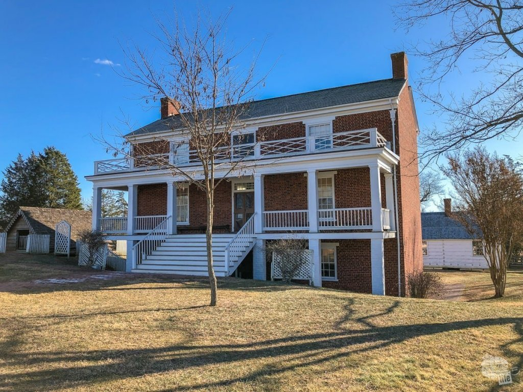 The McLean house at Appomattox Court House