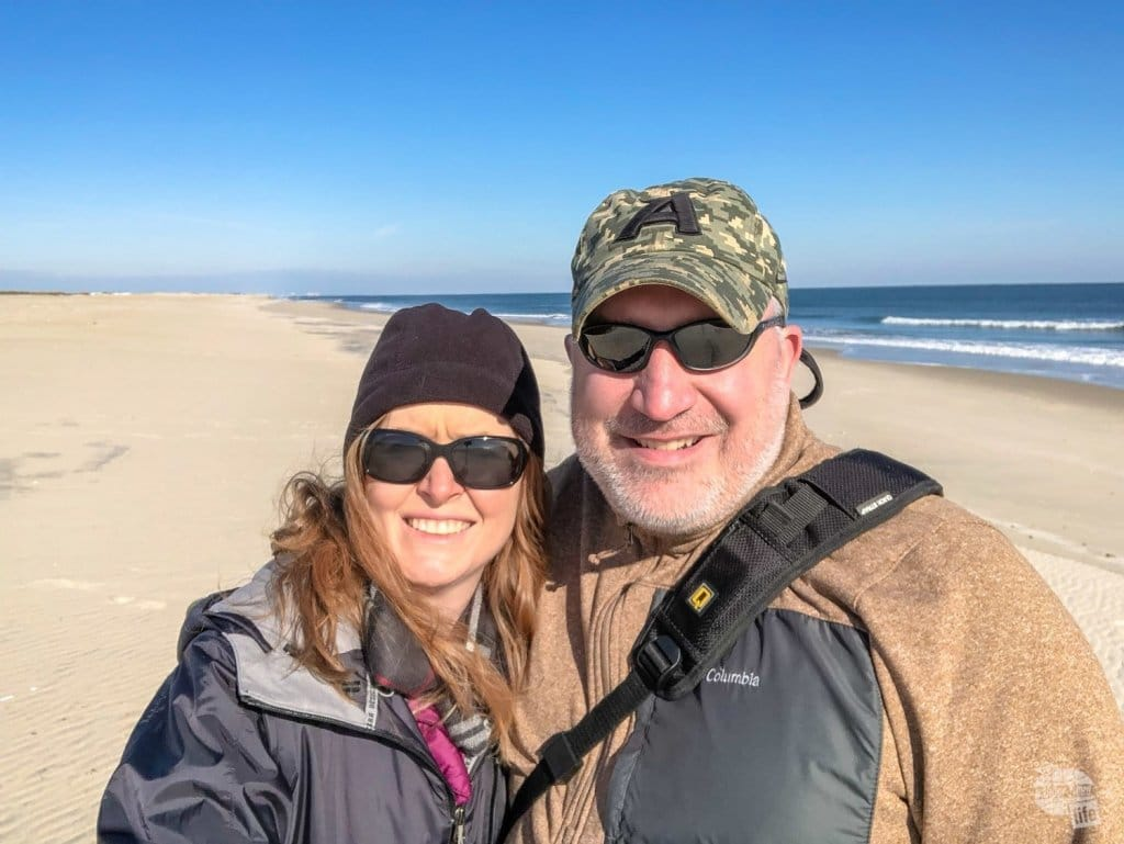 Winter selfie at Assateague Island National Seashore